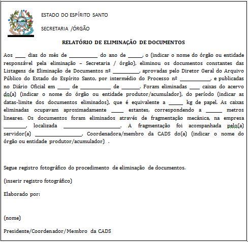APEES - Eliminação de Documentos
